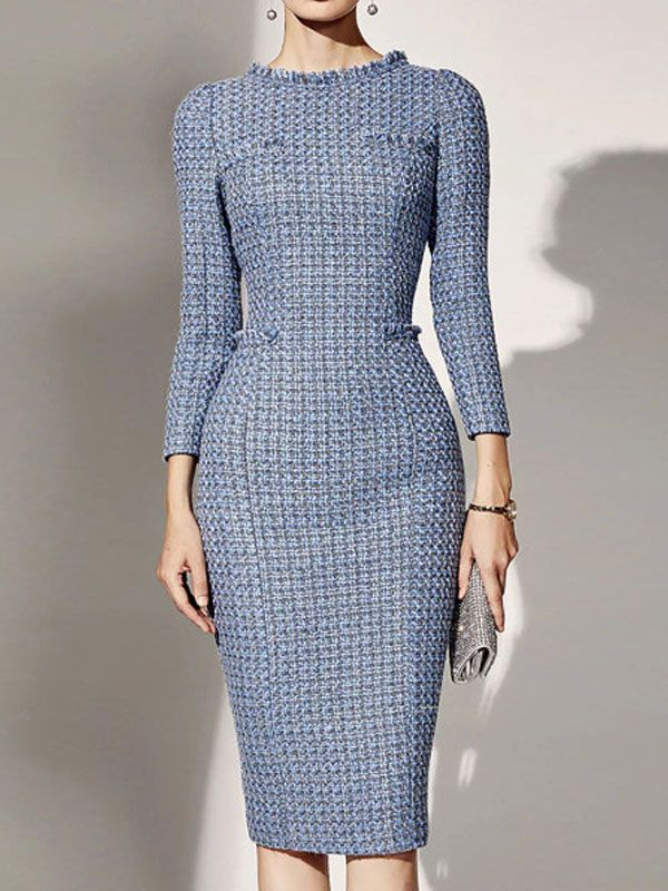 Pin by Ellen on Church Mode | Long sleeve dress formal, Womens dress suits,  Necklines for dresses