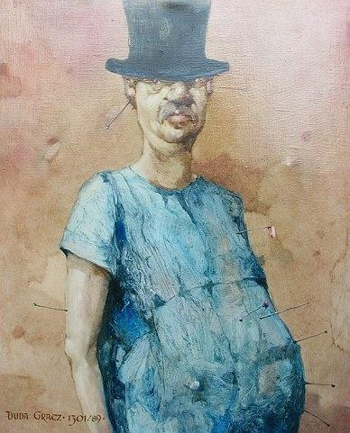 Jerzy Duda-Gracz - Kaprys V - Autoportret (1989)