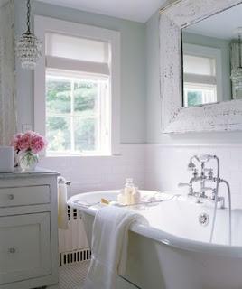 fresh & clean: Decor, Tubs, Dream, Shabby Chic, Beautiful Bathroom, Bathroom Ideas, White Bathrooms, Chic Bathroom