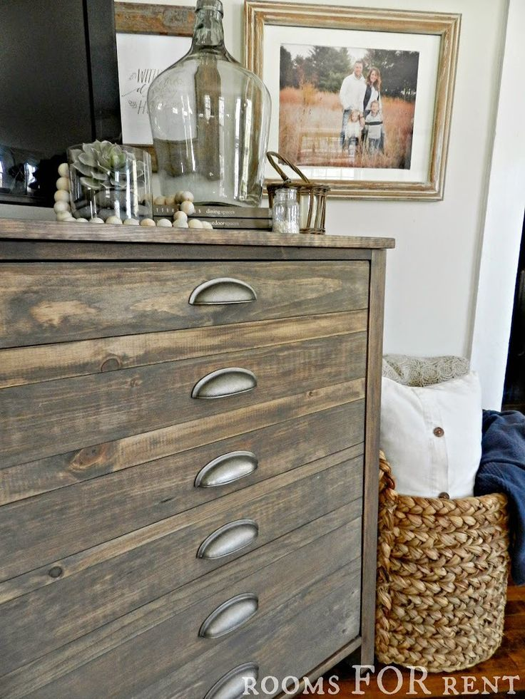 stain color for dresser - Special walnut + weathered grey