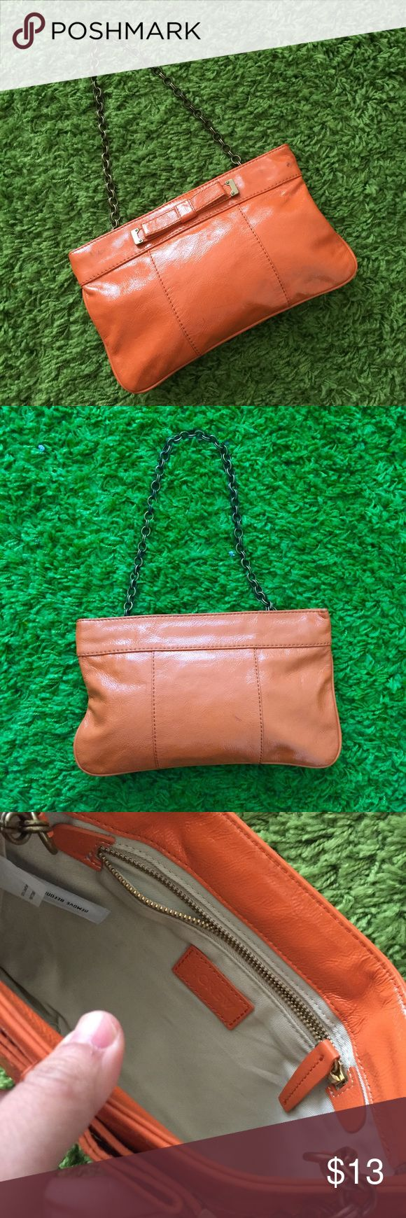 J. Crew orange Shoulder bag / clutch J. Crew orange Shoulder bag / clutch J. Crew Bags Clutches & Wristlets