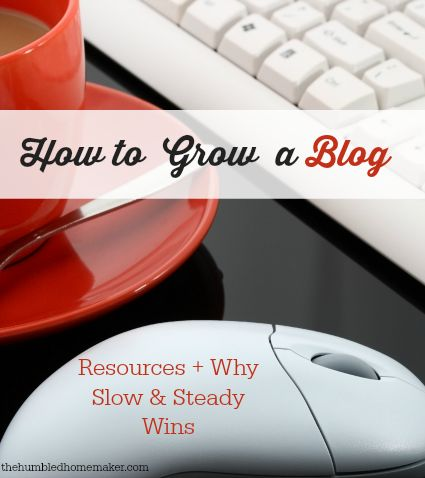 How to Grow a Blog {Resources Why Slow and Steady Wins}