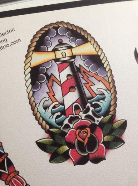 da939dee30327 22 Ideas tattoo traditional old school lighthouse #tattoo | tattoo ...