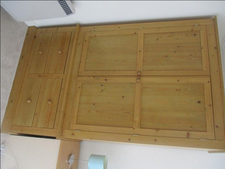 Large Solid Pine Double Wardrobe For Sale in Lincoln, Lincolnshire | Preloved