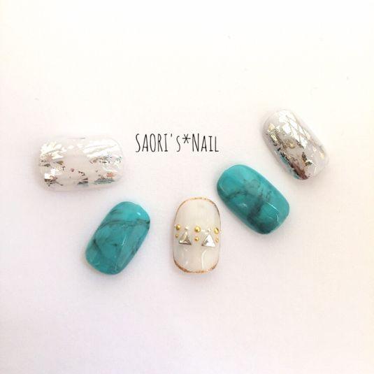 【送料込み】AWターコイズ♡ネイル by Saori's Nail ファッション その他