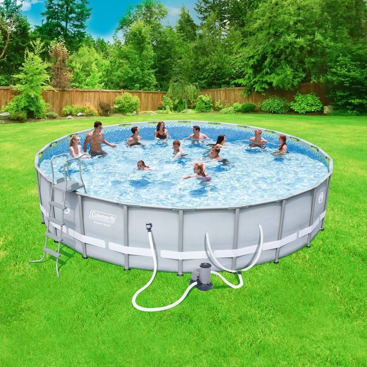 Swimming Pool Set Outdoor Large Above Ground Pump 22x52 Round Steel Frame Ladder #SwimmingPoolOutdoorLarge