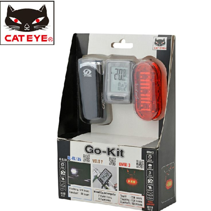 CATEYE Bike Light Led Taillight Headlight With Wired Cyclocomputer 3 Sets Cycling Cycle Bicycle Digital Computer Odometer New