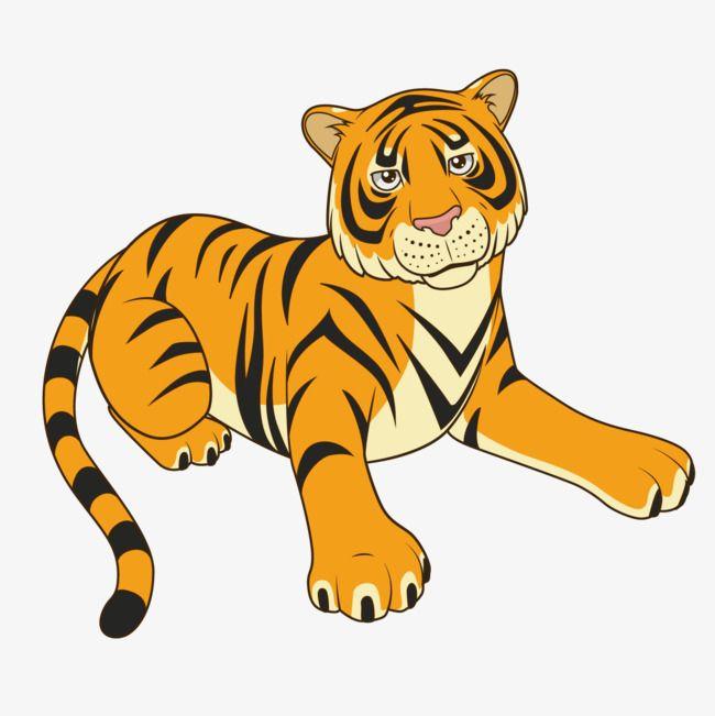 S Click Here Cartoon Tiger Cartoon Illustration Cartoons Vector