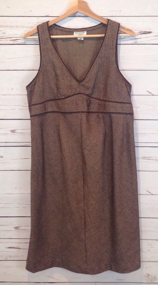 bff0522485a00 Motherhood Maternity Herringbone V-Neck Sleeveless Dress Size Small ...