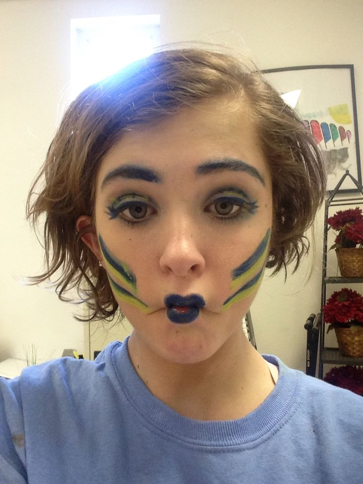 My flounder makeup for the Little Mermaid