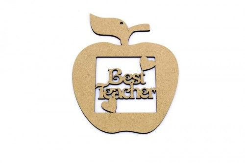 Hanging Teacher apple.  Teacher and Teaching assistant gifts ready to paint. http://www.lornajayne.co.uk
