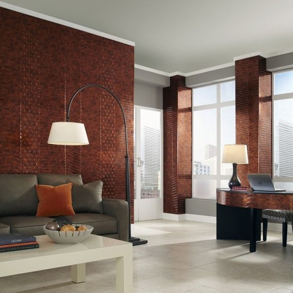 Decorative Wall Tiles For Living Room Fasade Nexus Moonstone Copper 4Foot X 8Foot Wall Panelfasade