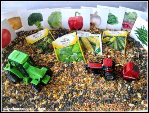 "Seeds & tractors sensory fun ("",)"