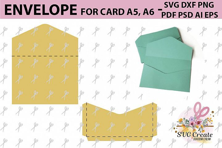 Envelope Template Svg Printable Pdf Diy Digital 115344 Card Making Design Bundles Envelope Template Envelope Template Printable Printable Envelope