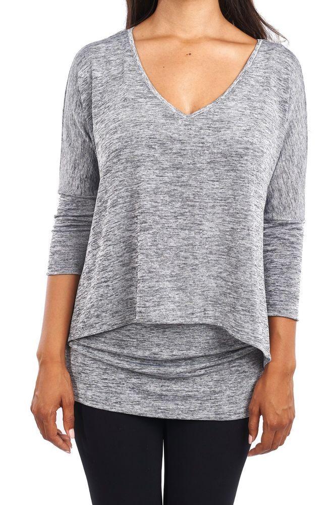 43911af4776 Women's Lurex Knit Tunic Top, Gold or Silver Metallic Shimmer Joseph Ribkoff  | eBay