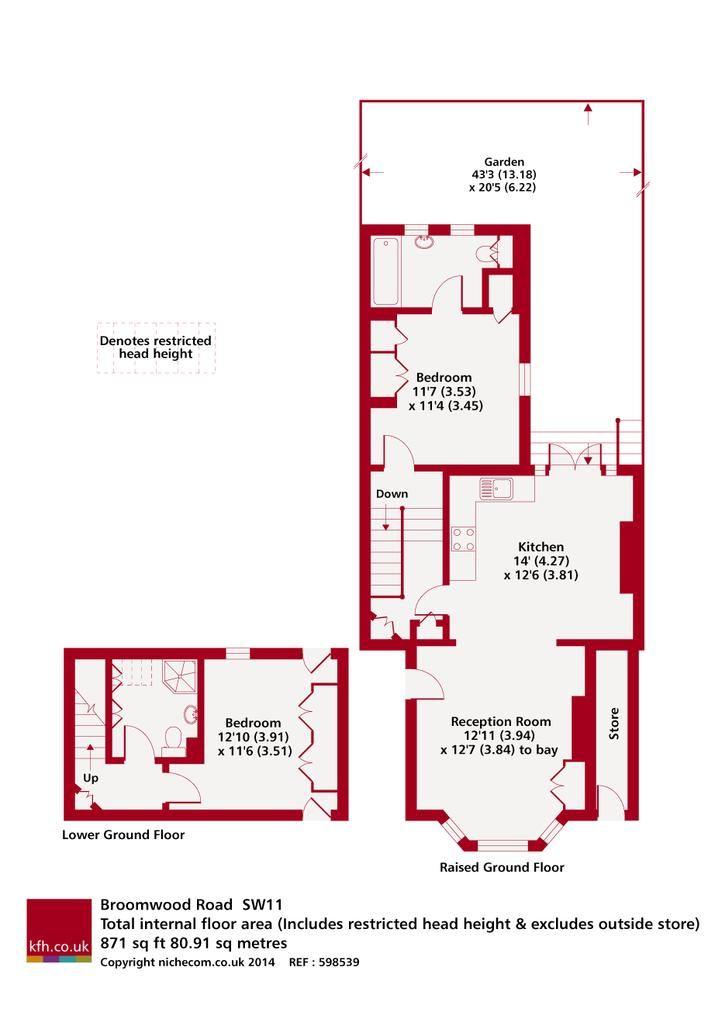 Broomwood Road floor plan