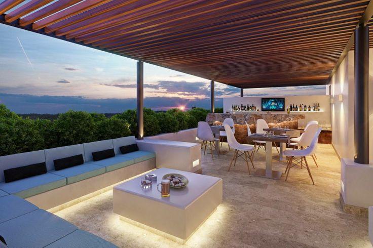 Playa del Carmen vista desde el Sky Lounge