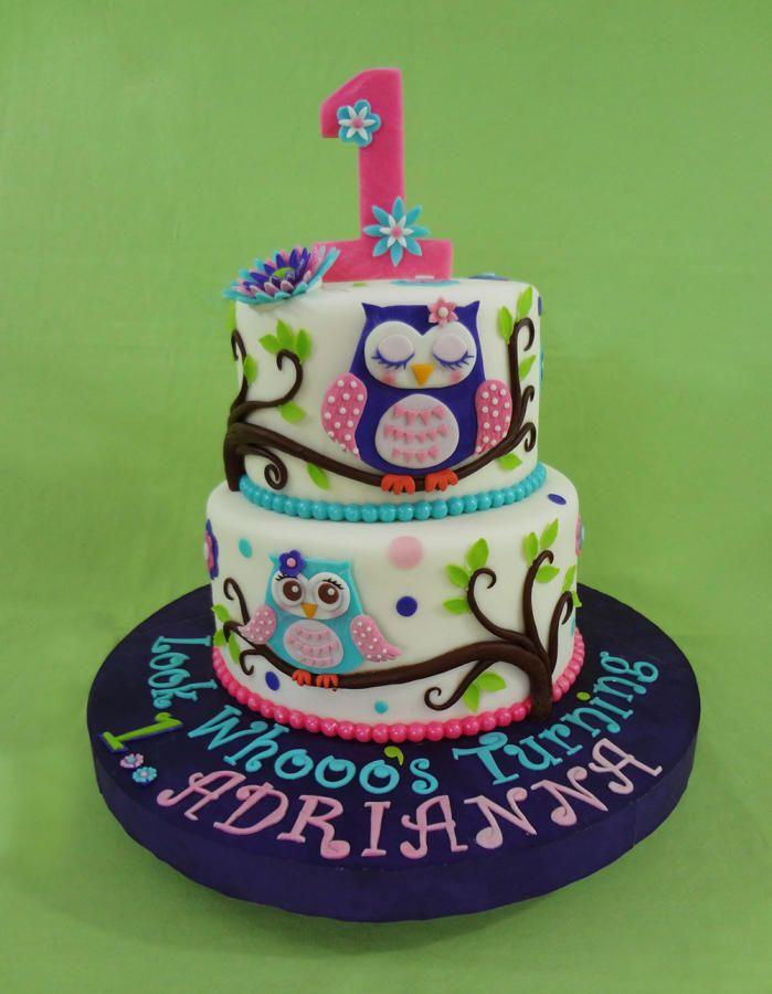 Owl Cake - Cake by Custom Cakes by Ann Marie