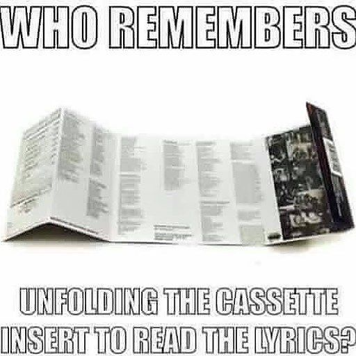 Who was your first cassette?