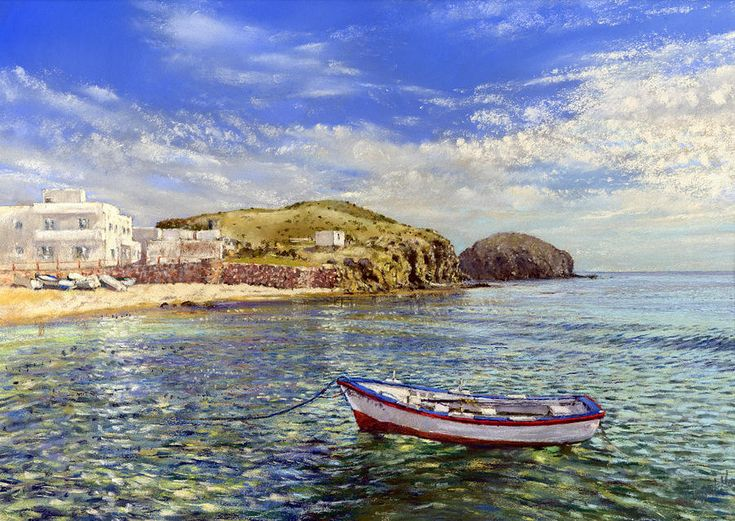 La Isleta Del Moro Painting by Margaret Merry