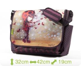 Sac Ketto à rabat - coccinelle / Ketto's army style bag - ladybug * Fabriqué à 80% de bouteilles de plastique recyclées / Made of 80% of recycled plastic bottles * www.kettodesign.com
