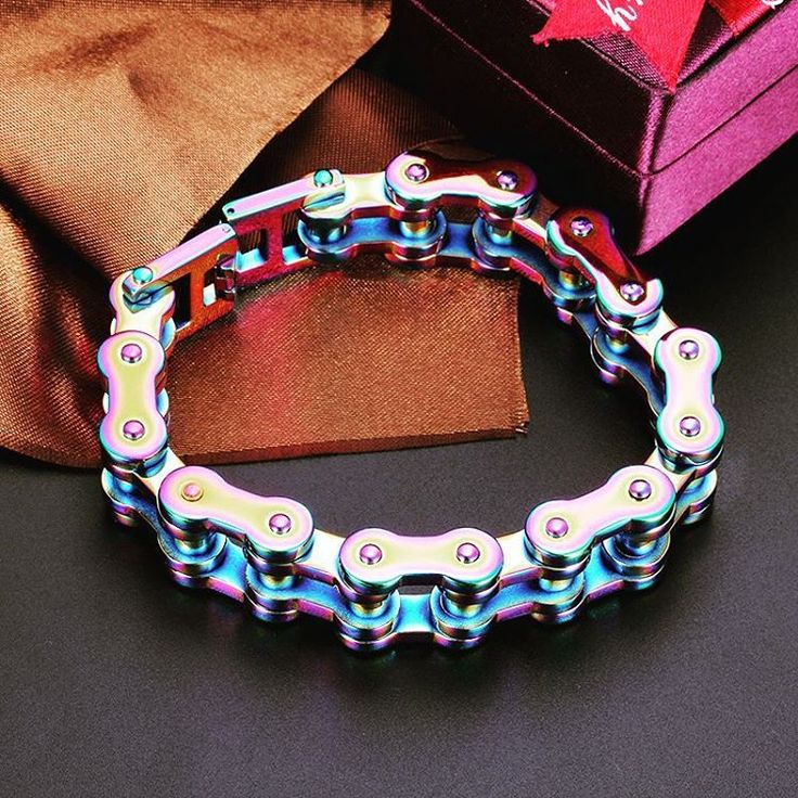how to make a motorcycle chain bracelet