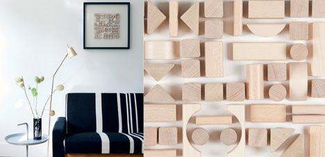 Easy 3D-Wall Art made of wooden Blocks via boligliv.dk