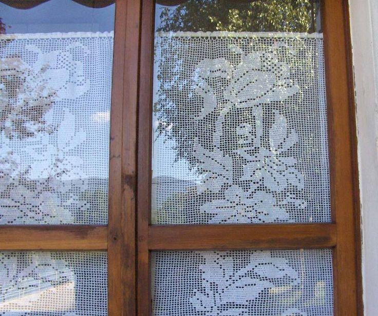 Le 16 migliori idee su miei lavori all 39 uncinetto su - Tende all uncinetto per finestre ...