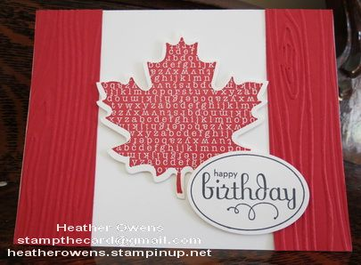 Happy Canada Day! using Wonderfall stamps and co-ordinating die.