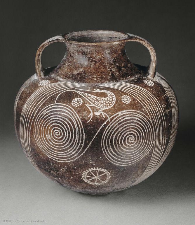 Этрусская амфора. Керамика. V в. до н.э.