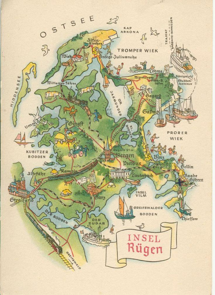 Rügen landkarte - map of Rügen