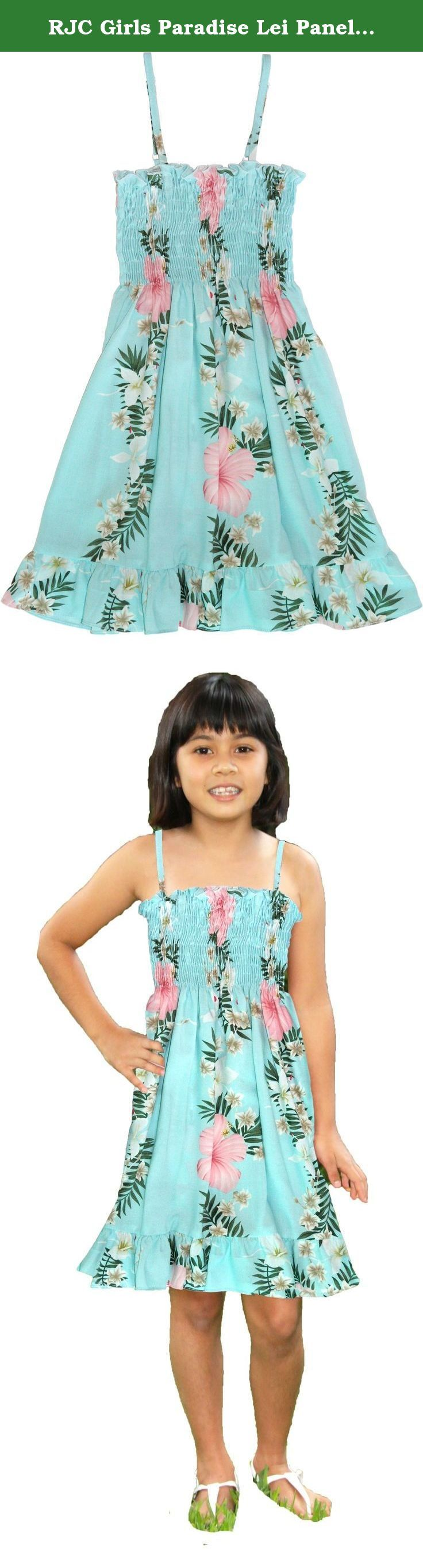 "RJC Girls Paradise Lei Panel Elastic Tube Top Ruffle Sundress Aqua 3. SIZING INFO // RJC GIRLS // STYLE 155 // there are approx. measurements of the dresses // ELASTIC TUBE TOP (without expansion to maximum expansion) - (size 2) 14""-24"" 