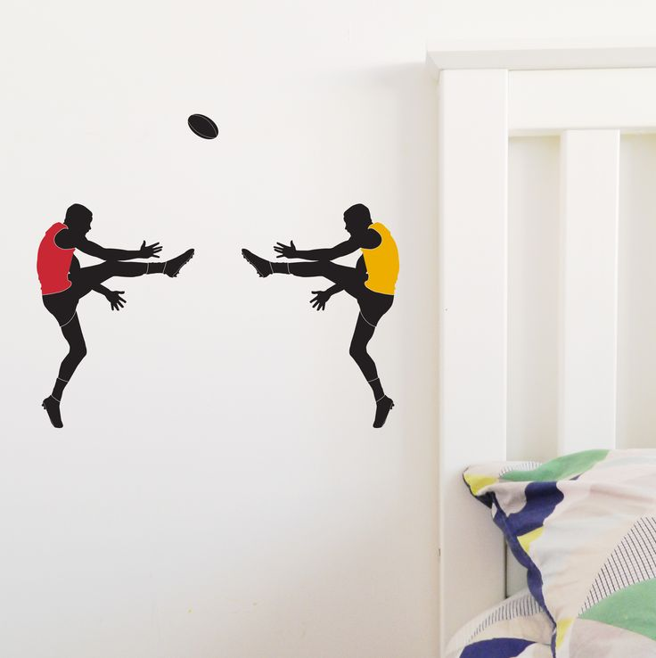 Australian Football League Finals 2017 Wall Sticker. This custom made removable decal was made for the footy finals. Contact us for custom colours too. https://www.moonfacestudio.com.au/product-page/australian-footy-player-vinyl-wall-sticker-decal
