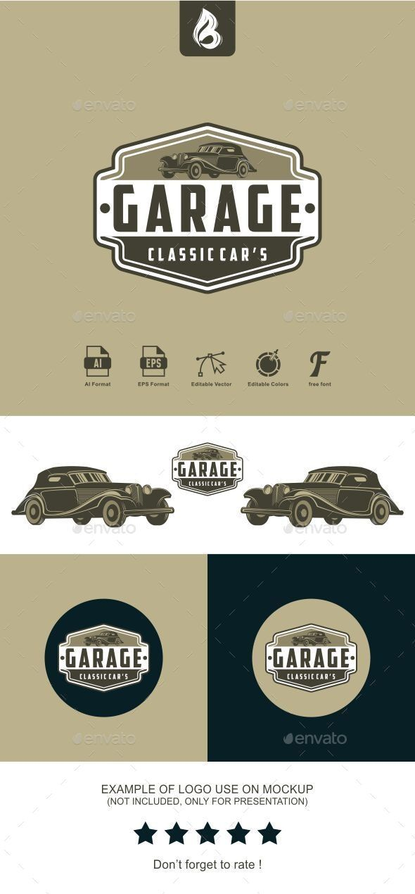 Garage Logo Garage Logo Automotive Logo Design Car Garage