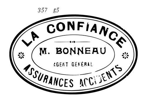 old stamp logo