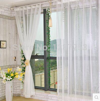 Белый вуаль шторы cortina окна шторы ткань для постельные принадлежности комната занавес для гостиной пано украшения дома занавес ткань