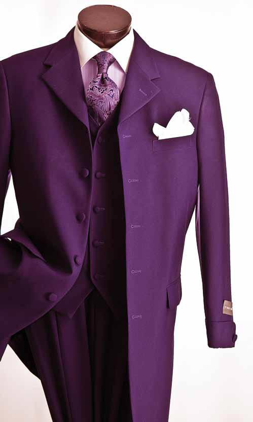 Fashion solid 3 piece Zoot Suits http://www.krcapparel.com/suits/suits_zootsuits_classic_3piece.htm $159.00