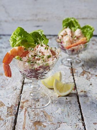 Seafood cocktail cocktailsaus Jamie Oliver met magere yoghurt ipv mayonaise
