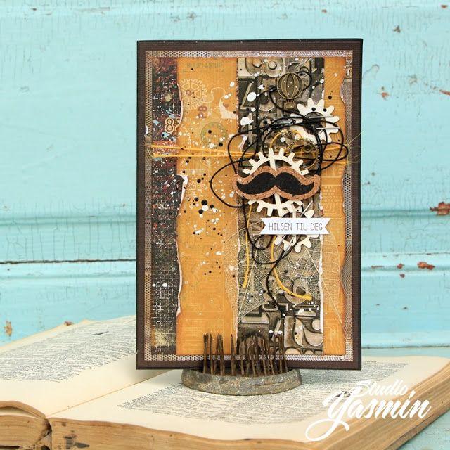 ScrapBerry's: a masculine card, Edge of Town by Yasmin Yasmin Tölche