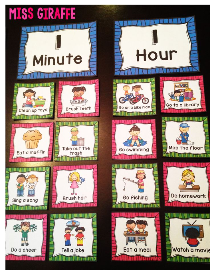 Concepts of time - perfect practice for first grade!! Sorting common activities by how long they take to practice units of time vocabulary