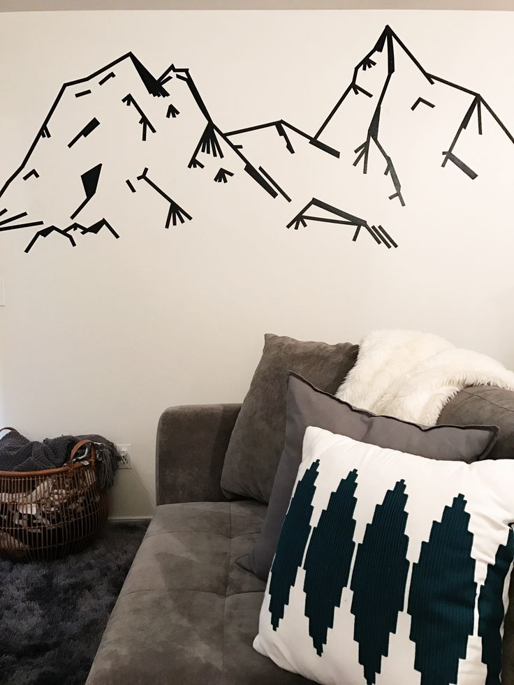 Wall Painting Designs With Tape : Best tape wall art ideas only on masking