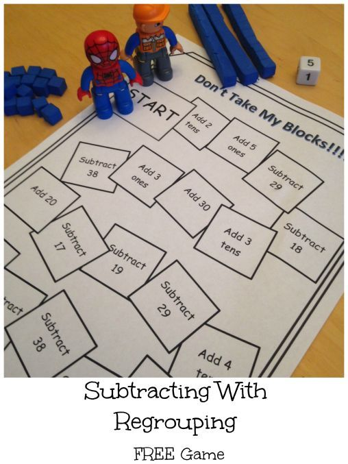 A fun, no prep game for reviewing and practicing subtraction with regrouping. FREE.