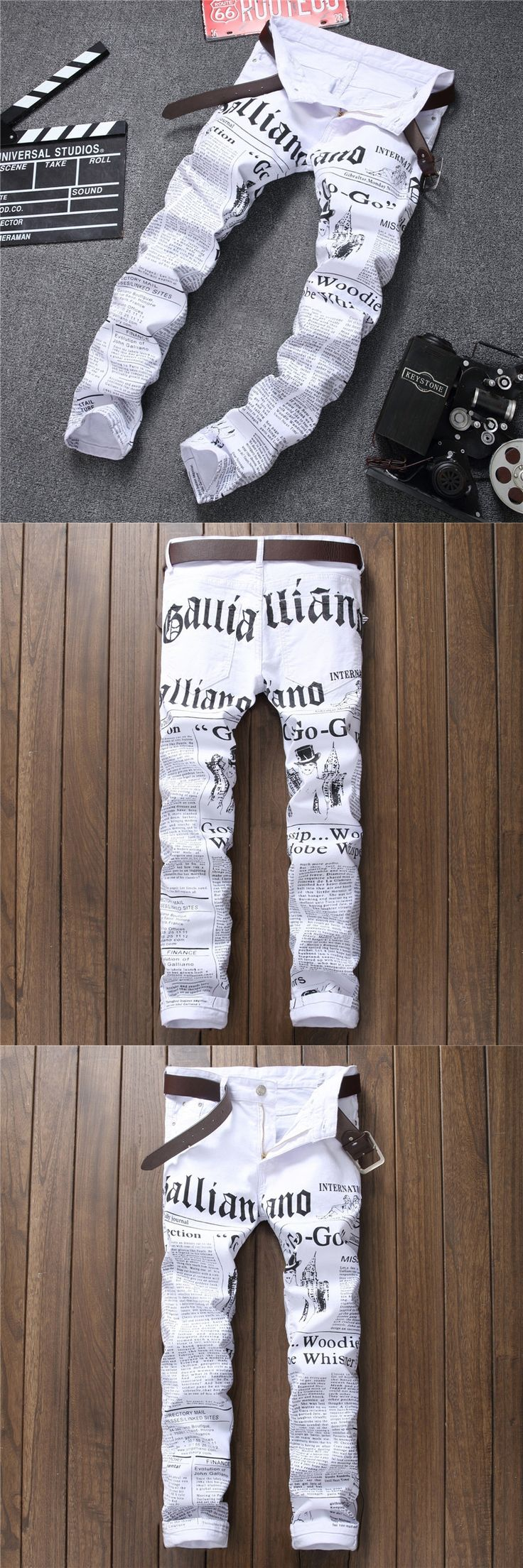 2017 Plus Size Mens Pants Punk White Skinny Pants Casual Ripped Nightclubs Skinny Slim Trousers Cowboys Young Man Streetwear