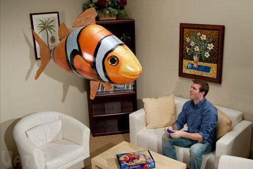 """Air swimmers -- you control where the fish """"swims"""" through the air with a remote control. Coolest gift ever? I think so!"""