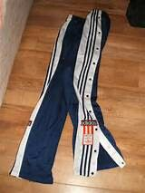 Pop up tracksuit trousers.. Never understood these but thought i looked cool wearing them