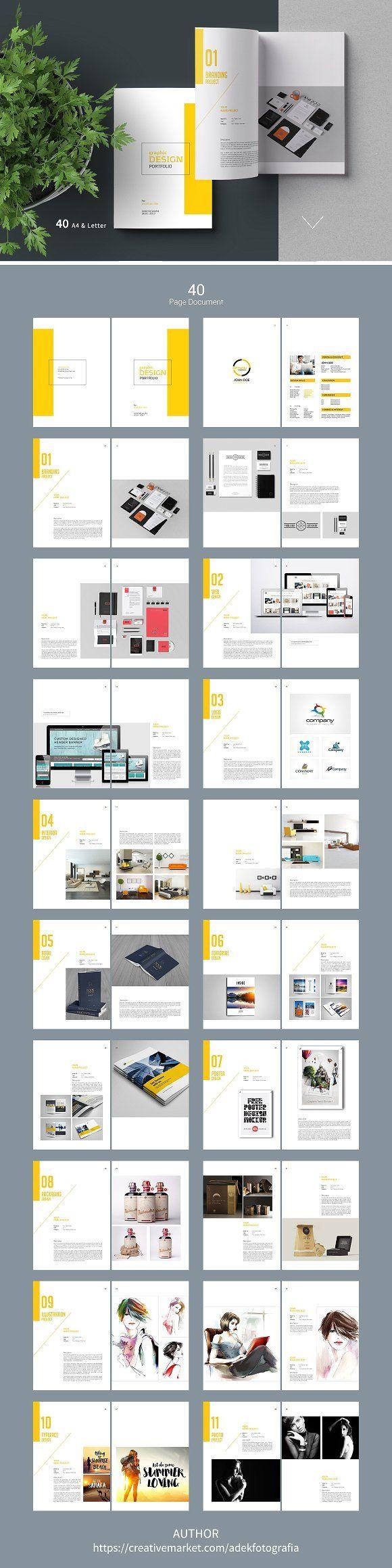 Graphic Design Portfolio Template by adekfotografia on @creativemarket