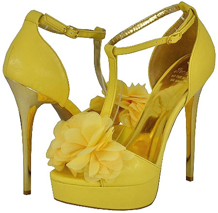 2 Yellow Bridal Shoes Heel For 2014 Collection