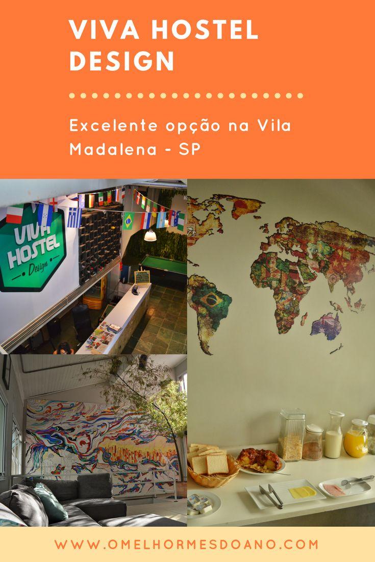 Um hostel moderno e com todos os detalhes que você precisa para que a sua hospedagem na Vila Madalena seja perfeita. O Viva Hostel Design é lindo e com estrutura nova e staff excelente!
