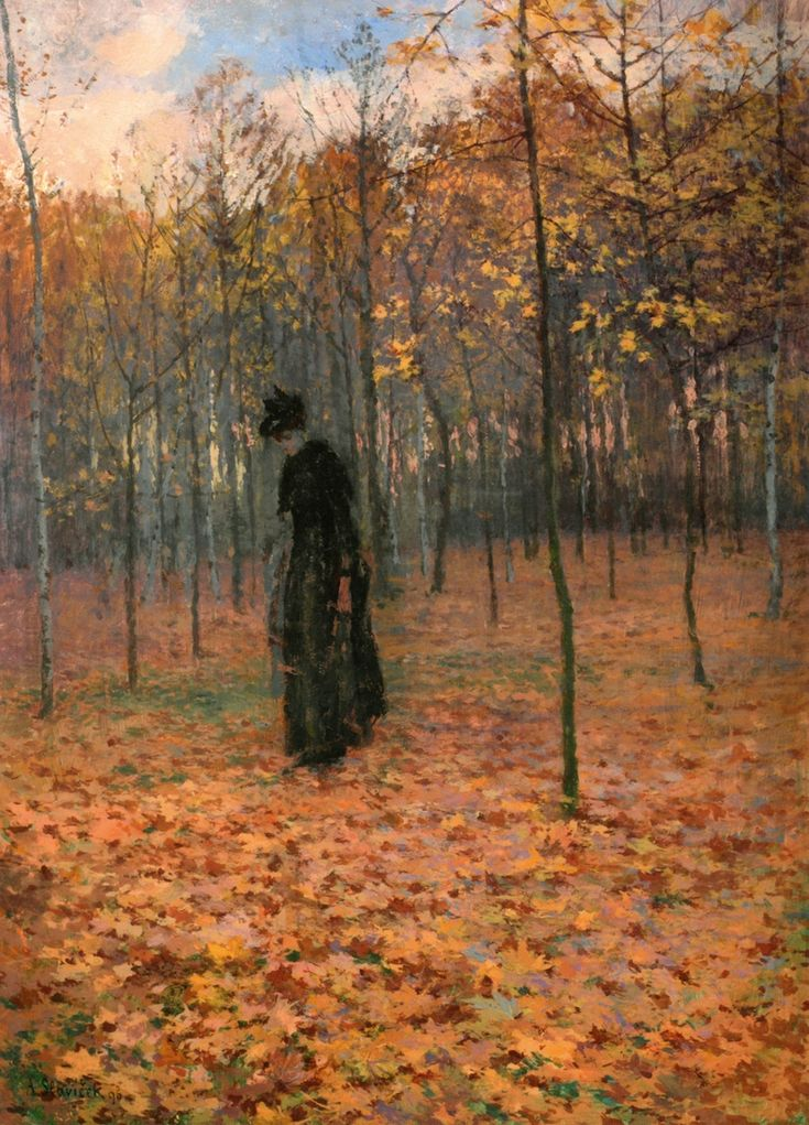 debris-de-reves:    Antonín Slavíček -  In Veltrusy Park ,1896.
