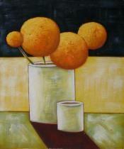 Vázy a nádoby - Oranžové koule, obrazy ručně malované